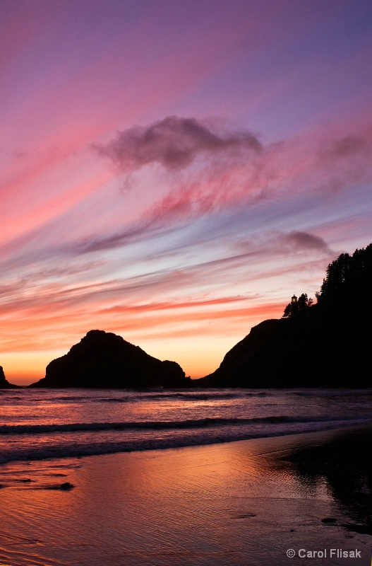Heceta Lighthouse Sunset 1 ~ Florence, OR