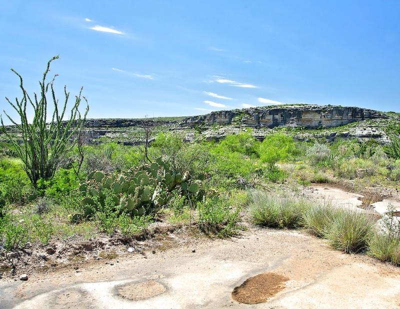 White bedrock area