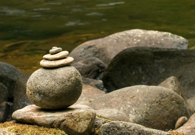 Zen Rocks at Sweet Creek