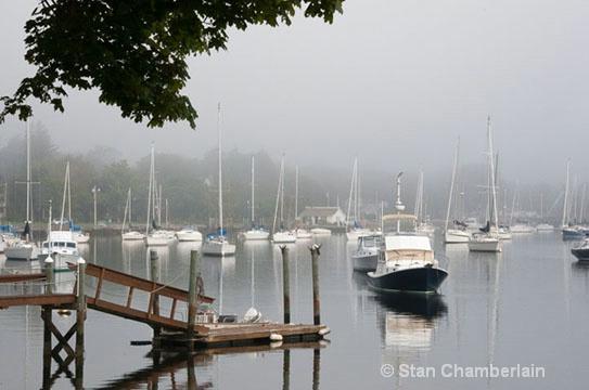 Barrington River Dock in Fog