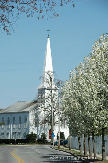 White Church in Spring