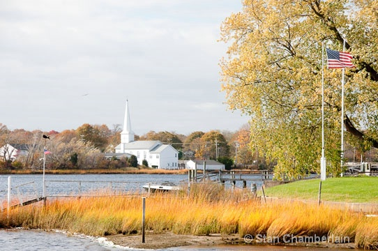 White Church in Fall