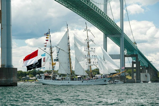 Tallship Dewaruci from Indonesia