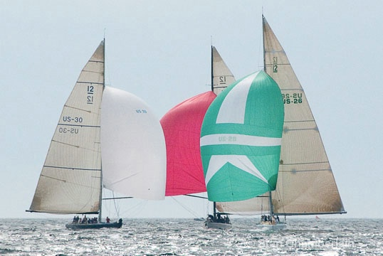 America's Cup 12-Meter Racing Sailboats