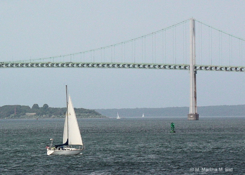 Sailboat and Bridge