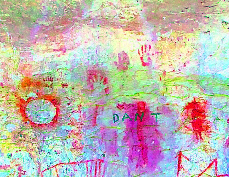 4 hand prints in ybr color space