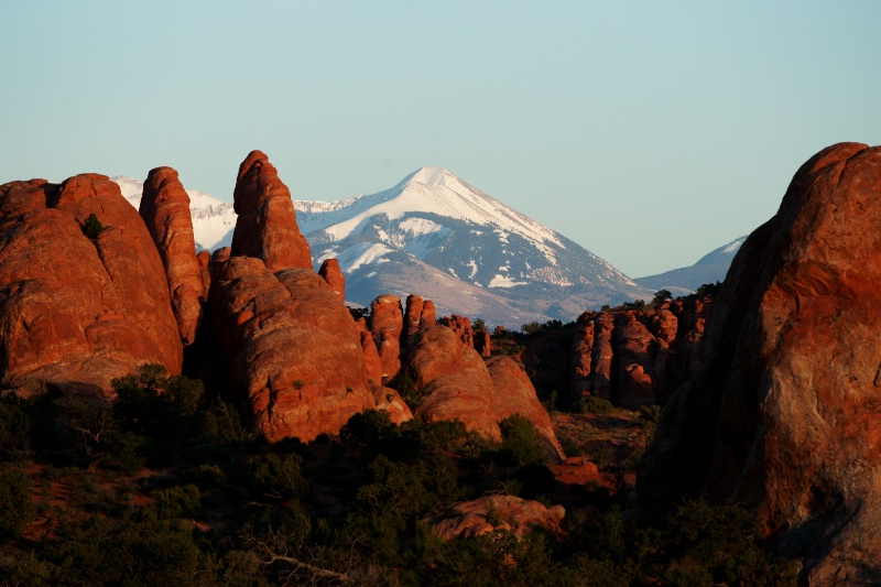 The La Sal Mountains at Sunset