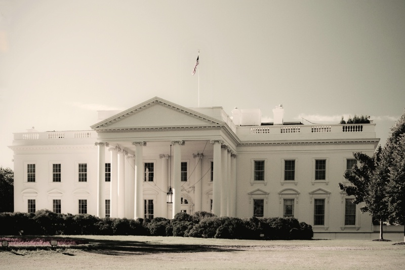 B&W White House