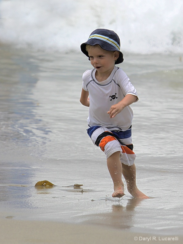 Dominic at the beach