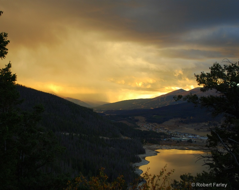 sunset over Breck