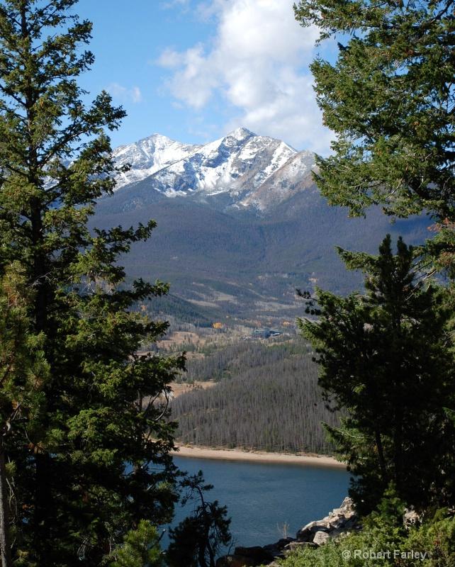 peaks over dillon reservoir