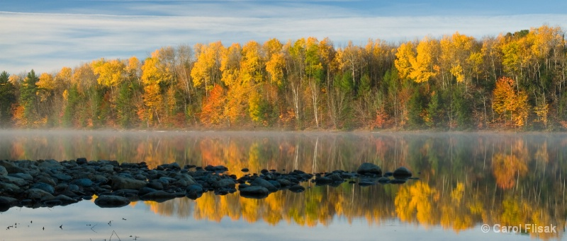 Misty Morning on Moccasin Lake ~ Michigan UP
