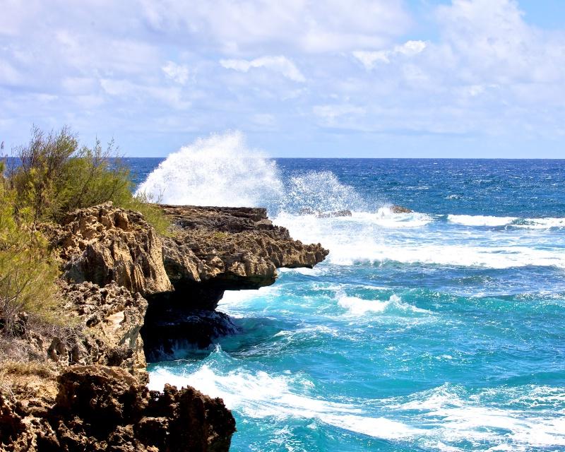 beach in Kaua, Hawaii