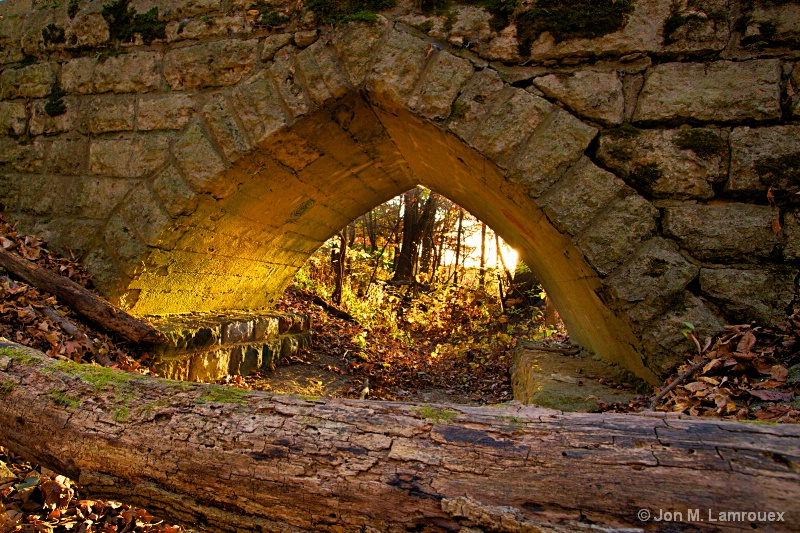 Gothic Arch at Sunset