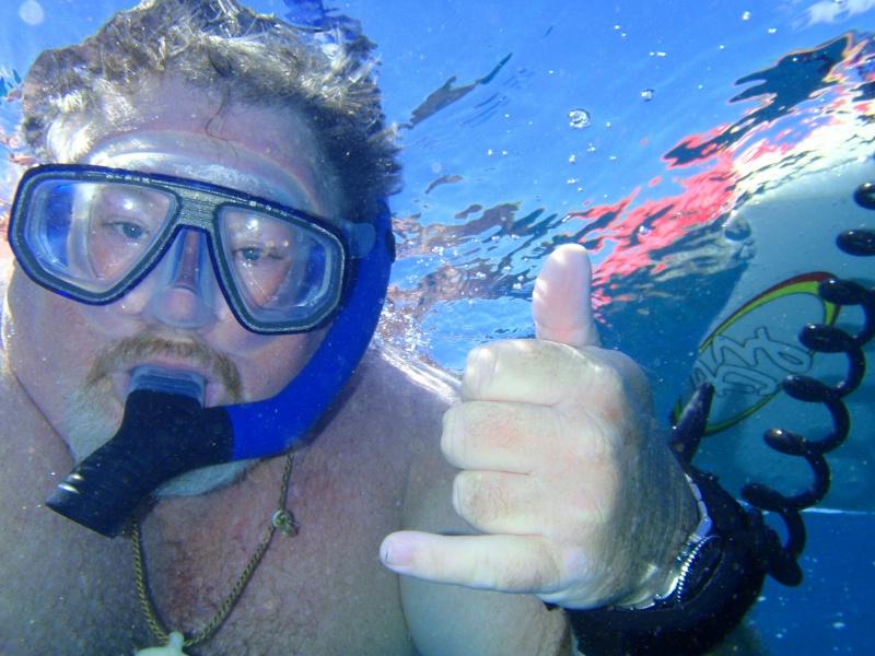 Daryl enjoying the ocean