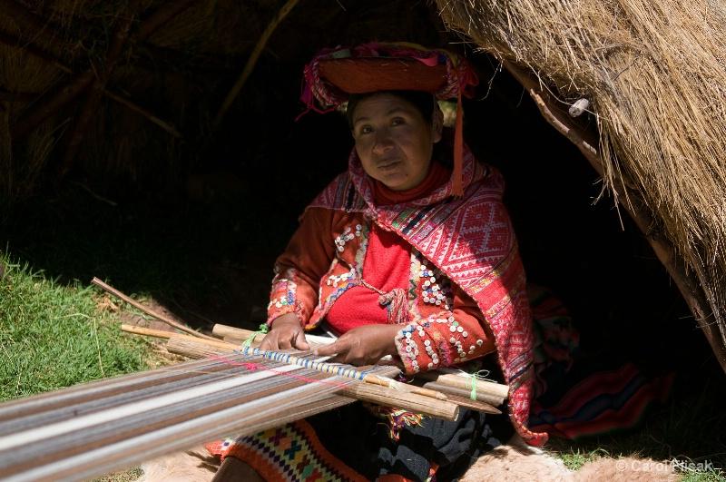 Weaving at Awana Kancha ~ Cusco, Peru