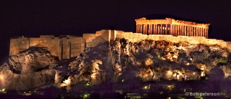 the Parthenon, on the Acropolis