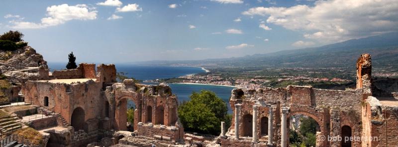 Greek Roman theatre, Taormina, Sicily