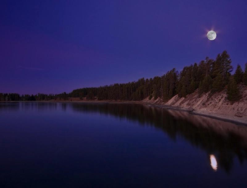 Twilight on Lake Yellowstone