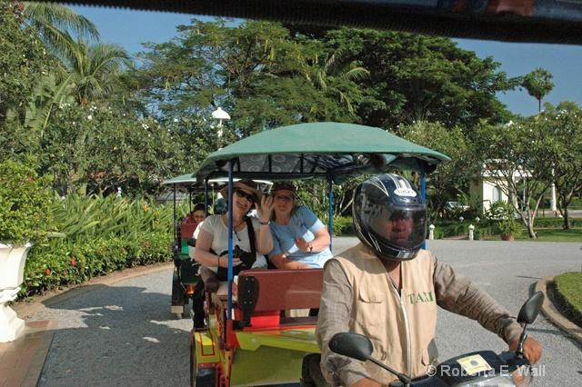 Cambodia pedicab ride to Angor Wat