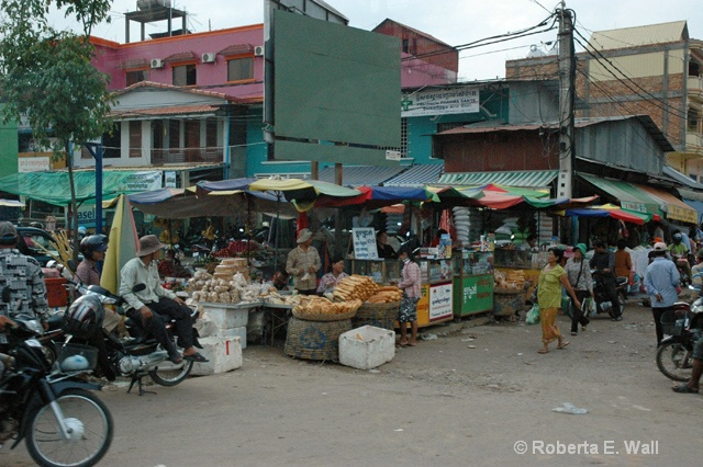 Cambodian market in Siem Reap