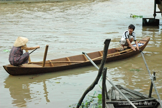 our woman with her sampan