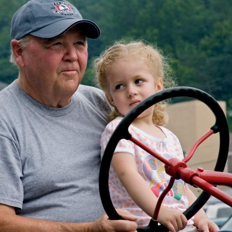 Riding with Grampa