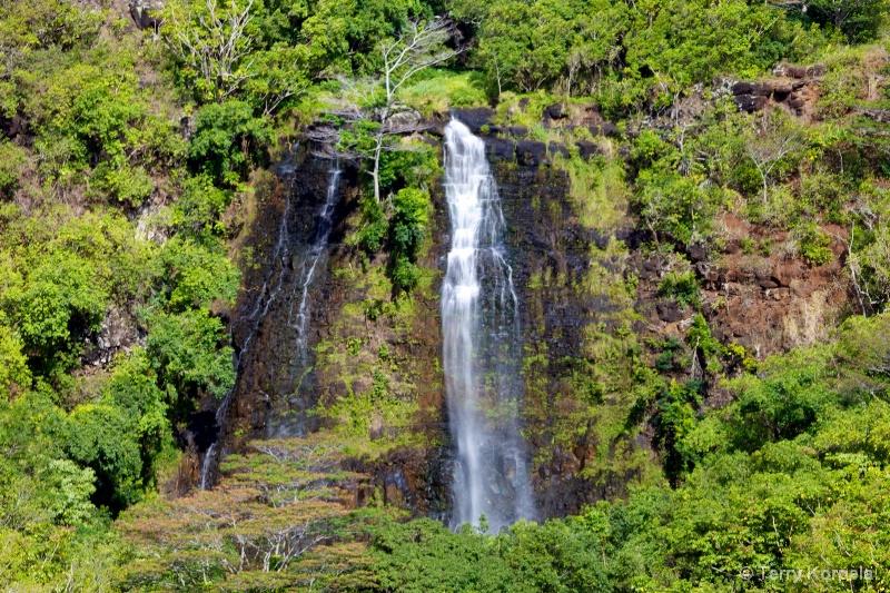 Waterfall in Kauai, Hawaii