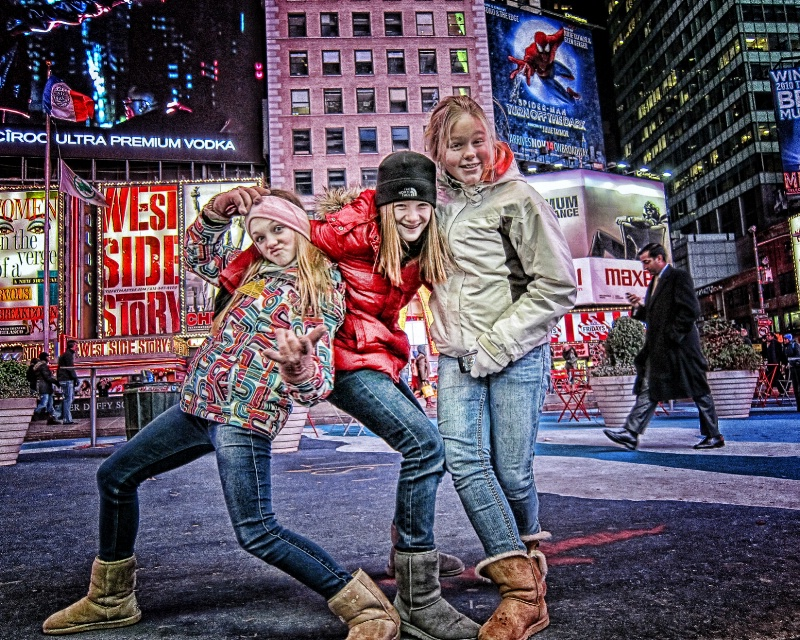 Teens in Times Square