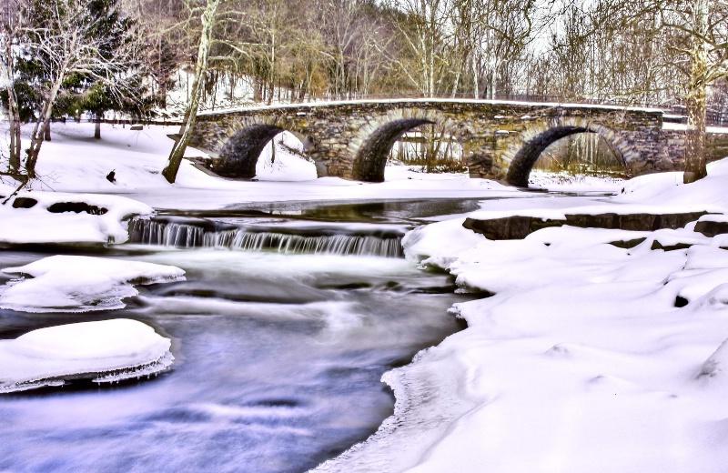 Stone Arch Bridge in Winter