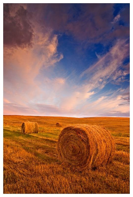Bales & Southern Saskatchewan sky