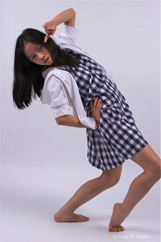 Yumiko in Blue Checks