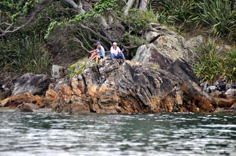 Family Fishing at Whangaparapara dsc 0123
