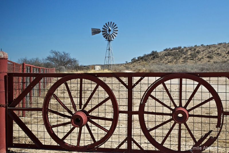 Broken Wagon Wheels and Windmill