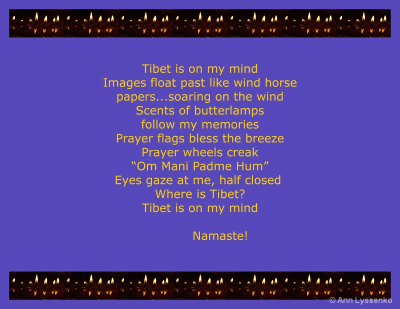 Tibet is on my mind...