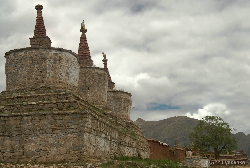 Stupas of Reting Monastery