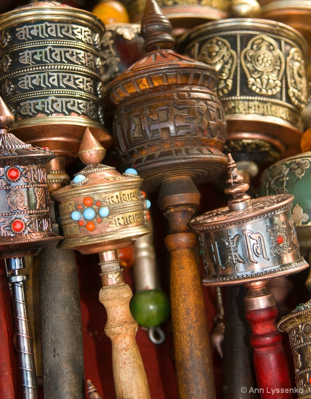 Prayer Wheels at the Barkor