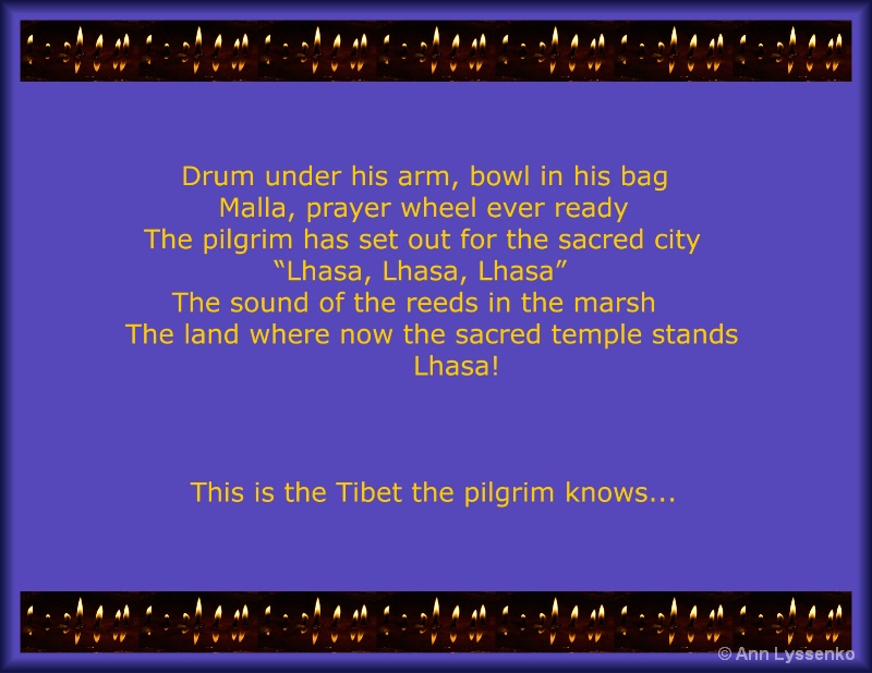Drum under his arm...