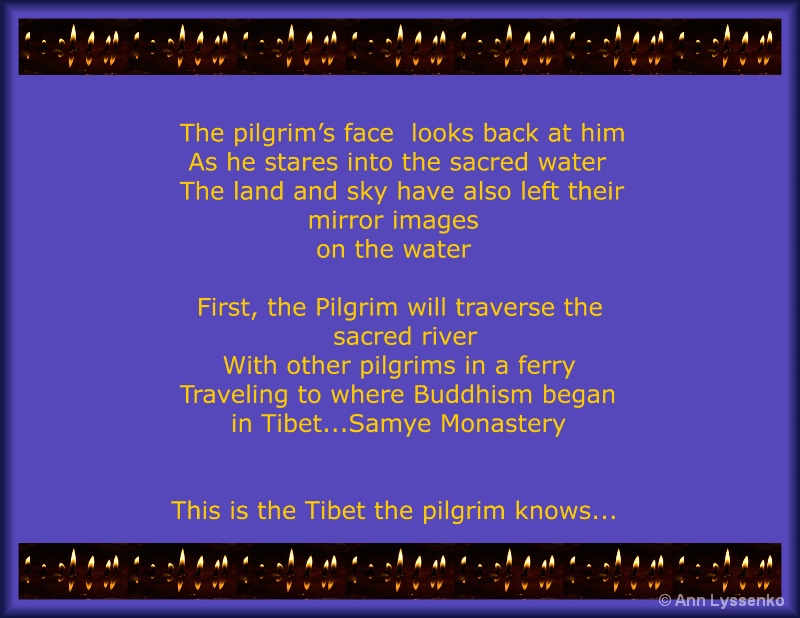 The pilgrim's face