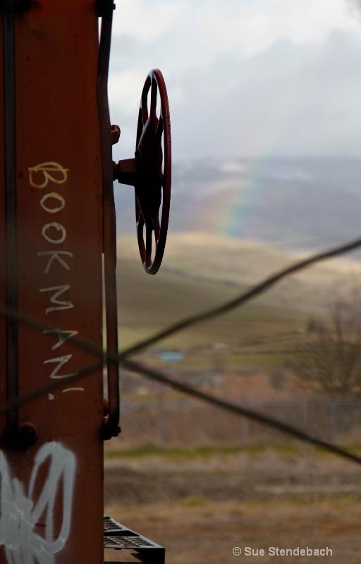 Train Near the End of the Rainbow, Ashland, OR