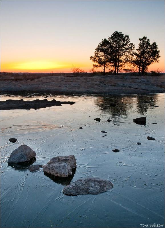 Frozen Pool Beforer Sunrise