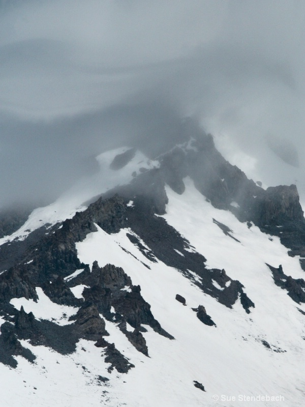 Clouds Enveloping Ridge, Mt. Shasta, CA