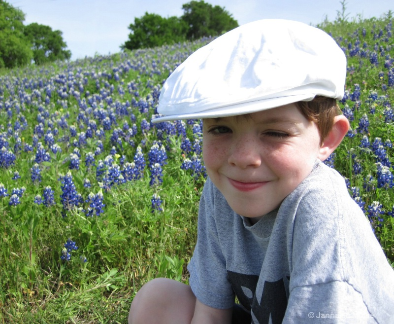 Liam in the Bluebonnets