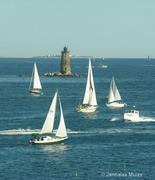 Whaleback sailing