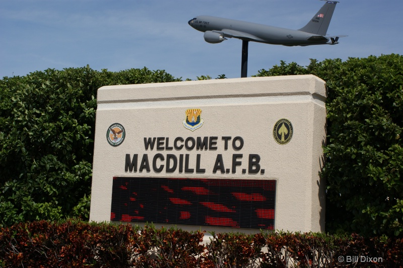 MacDill AFB Entrance Sign
