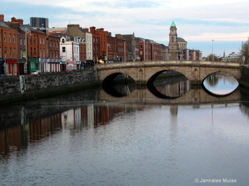 Liffey River reflections, Dublin