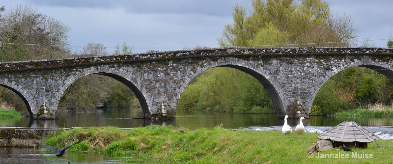 Bridge over river Nore, Ireland