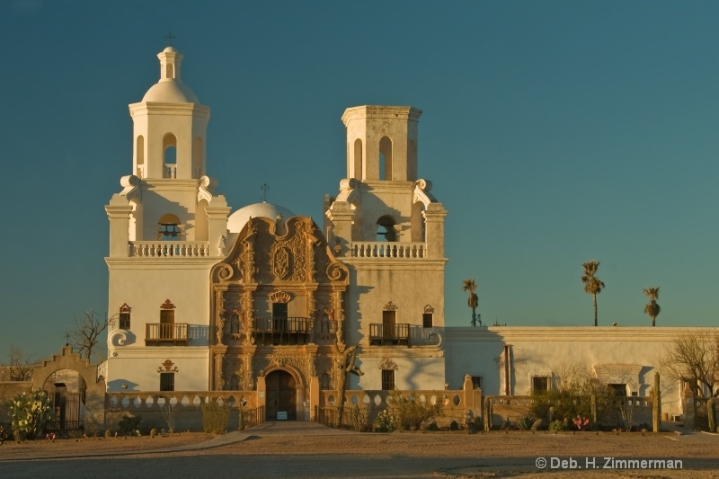 San Xavier Mission at Sunset
