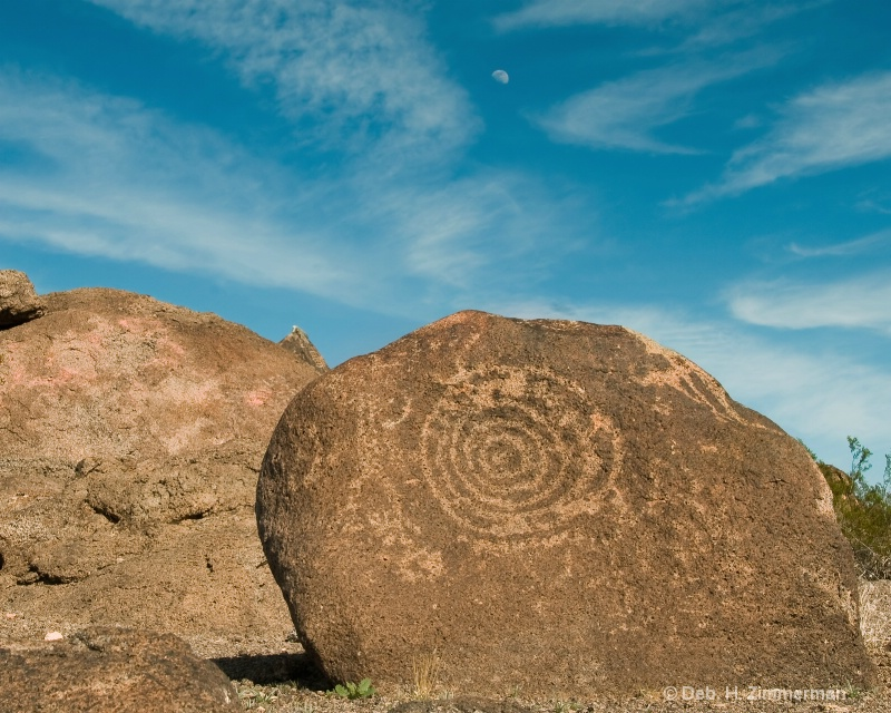 The Sun & the Moon at Painted Rock Petroglyph Site
