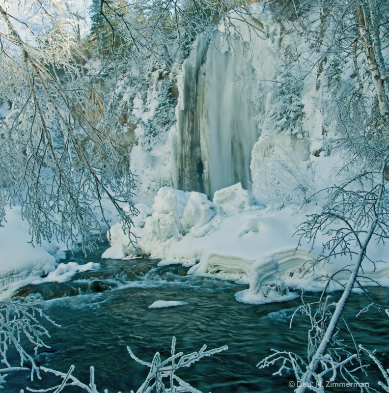 Lil Spearfish Falls with Frame of Iced Branches